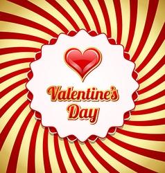 Valentines day badge vector