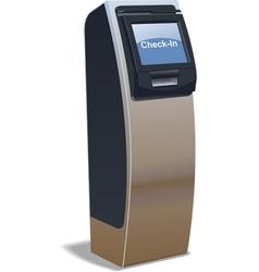 airport kiosk vector image
