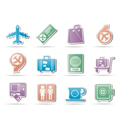 Airport and transportation icons 1 vector