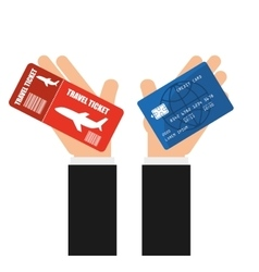 Credit card purchases vector