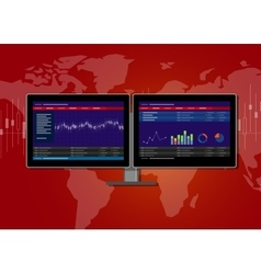 Monitor stocks transaction terminal vector