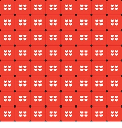 White hearts seamless pattern vector