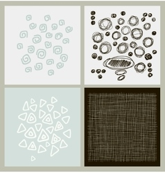 Hand drawn textures made with ink vector