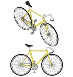 Isometric fixed gear bicycle vector