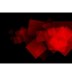 Abstract red squares tech background vector image