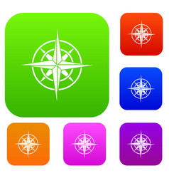 ancient compass set collection vector image