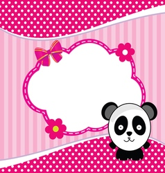 Banner for children with panda animal vector