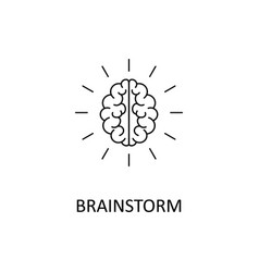 brain brainstorming idea creativity vector image