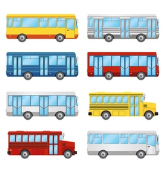 bus set vector image vector image