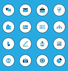 business colorful icons set collection of globe vector image vector image