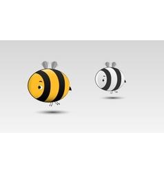 Cartoon bee in vector