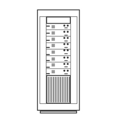 computer desktop server isolated icon vector image