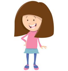 Cute girl cartoon character vector