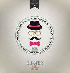 hipster design 2 vector image