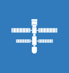 Icon space station vector