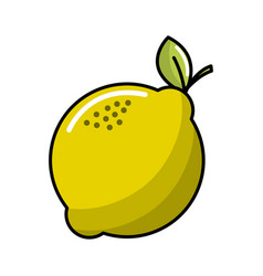 Lemon fruit icon stock vector