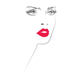 Makeup icon vector