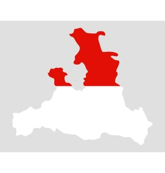 Map and flag of salzburg vector