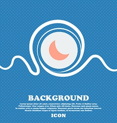 moon icon sign Blue and white abstract background vector image