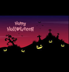 on the grave halloween background vector image vector image