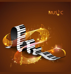 piano keys and abstract lines vector image vector image