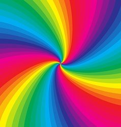 Rainbow colorful spiral background vector image