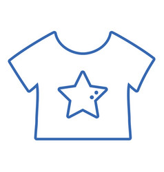 Silhouette baby t-shirt and textile clothes vector