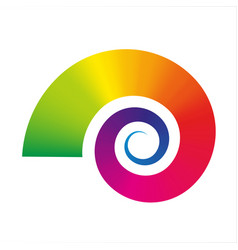 Snail icon graphic flexible symbol rainbow vector
