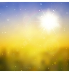 Sun with lens flare background vector image vector image