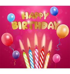 Happy Birthday greetings card vector image