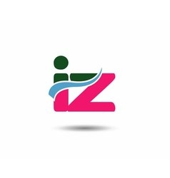 Letter i and z logo vector image