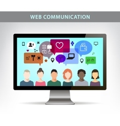 Web communication  social net vector