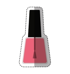 Nails polish bottle icon vector