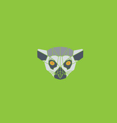 symmetrical of lori lemur vector image