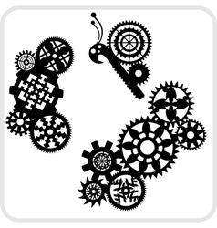 Gear Background Design - set vector image