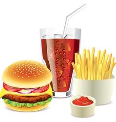 cola hamburger fri vector image
