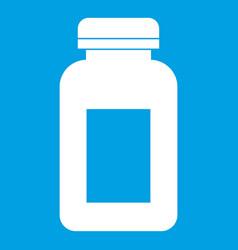 Medicine jar icon white vector