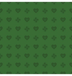 Hearts and shamrocks pattern vector