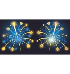 Brightly fireworks vector