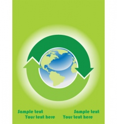 recycle icon background vector image