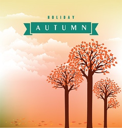 Autumn tree background vector