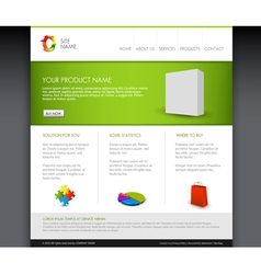 Modern product homepage vector