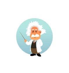 Old professor funny vector