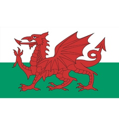 Welsh flag vector
