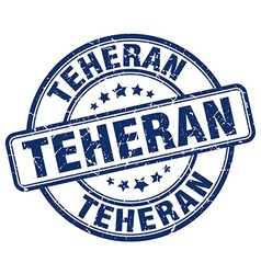 Teheran stamp vector