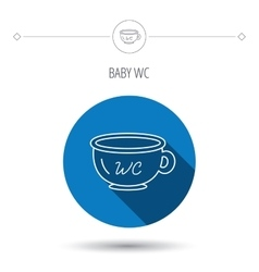 Baby wc pot icon child toilet sign vector