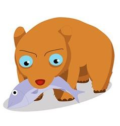Bears eat fish vector