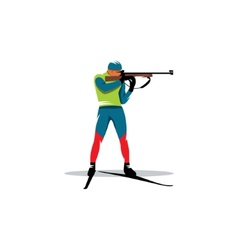 Biathlete sign vector image
