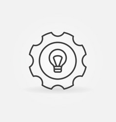 Bulb in gear icon vector