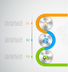 circle modern button infographic vector image vector image